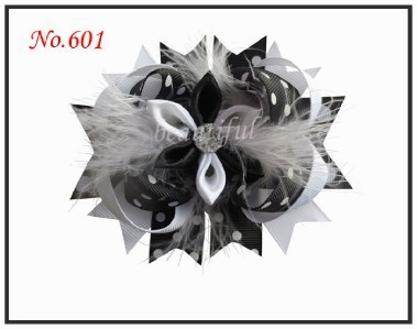 50 Good Girl Costume Boutique 4.5 Inch Feather F-Romantic Hair accessories Bow Clip feather headdress purpledeluxe costume accessories female one size