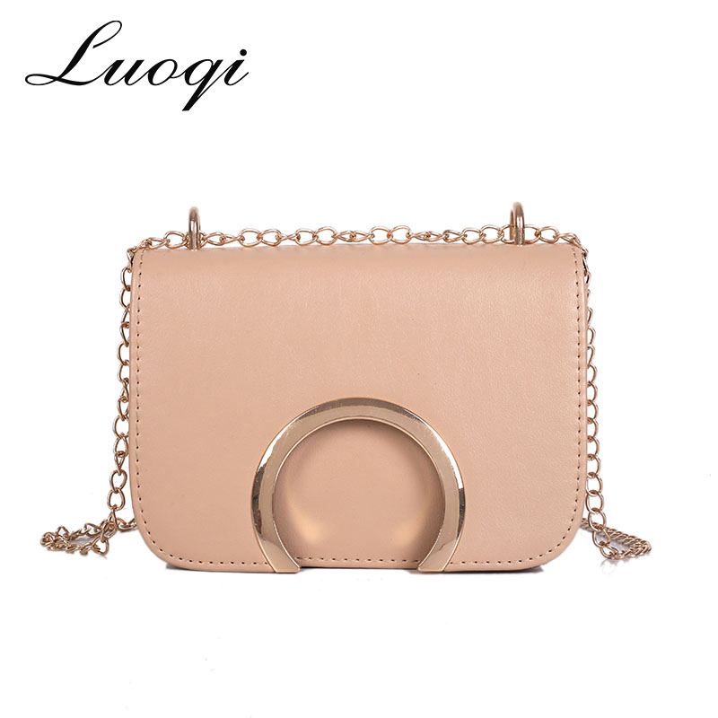 Luxury Women Handbags Designer Ring Messenger Bags Fashion Chain Shoulder Bags Female Solid Shopping Bolso Evening Party Gifts