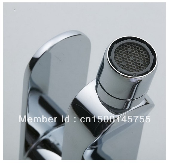 Single Handle Modern Chrome Bathroom Vessel Sink Lavatory Basin Bidet Faucet / Mixer Tap Free Shipping 2809