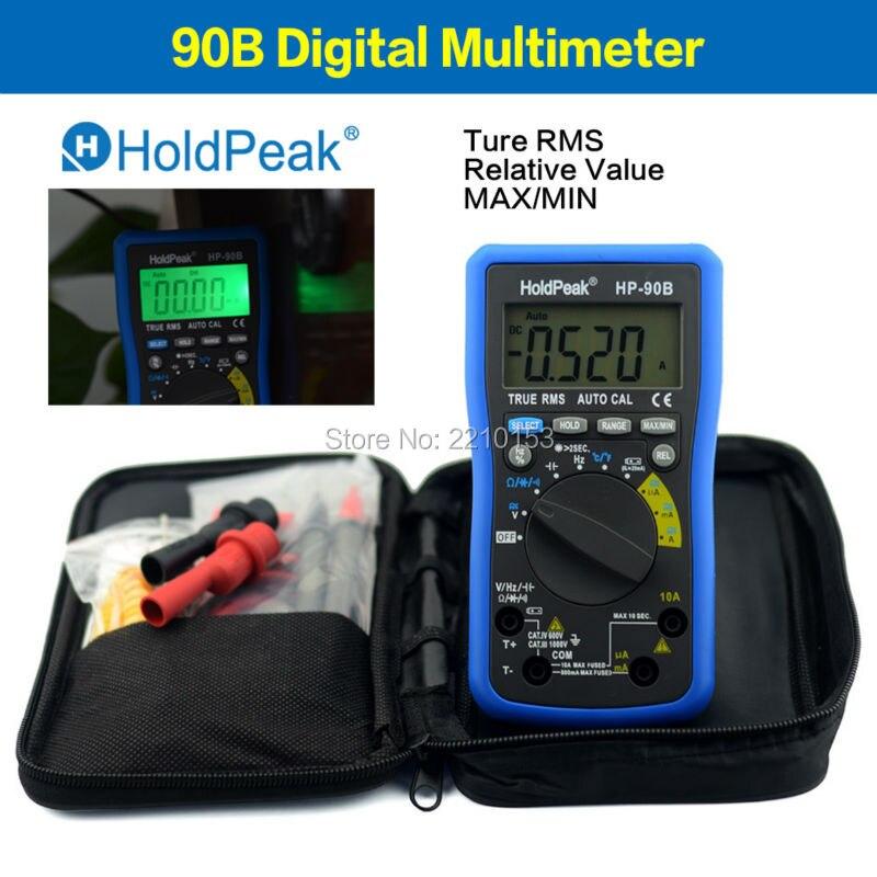 HoldPeak 90 Série True RMS Multimètre Numérique De Gamme Automatique Max/Min et Testeur De Batterie avec Unité de Température Sélectionnez 90B