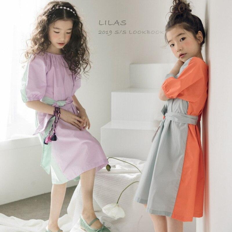 Adolescents bébé fille robes 2019 été enfants vêtements décontracté princesse robe Vestidos Costume nouvelles grandes filles robe coréenne 10 12 14