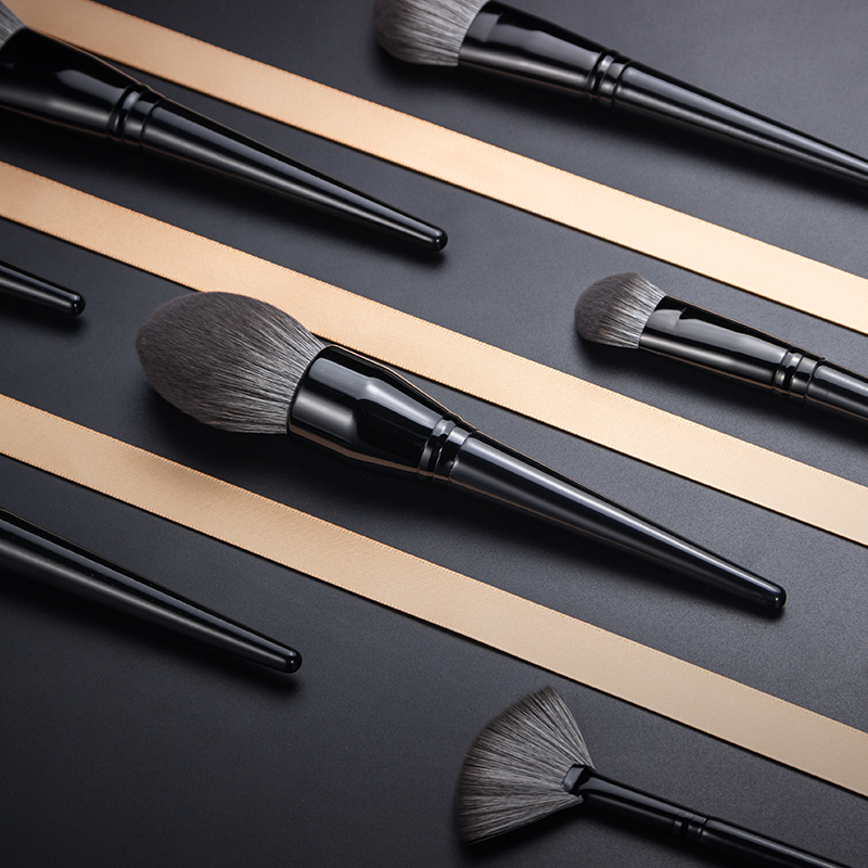 2019 Anmor 29PCS Make Up Brush High Quality Nylon Hair Foundation Eye Shadow Concealer Makeup Brushes With Black Cosmetic Bag - 5