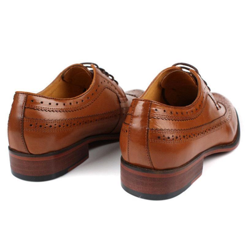 Casamento Handmade De Nova Casuais Negócios Genuíno Luxo Mycolen Chega laranja Formais Homens Couro Oxfords 2018 Brogue Sapatos Preto Dos t8xq6