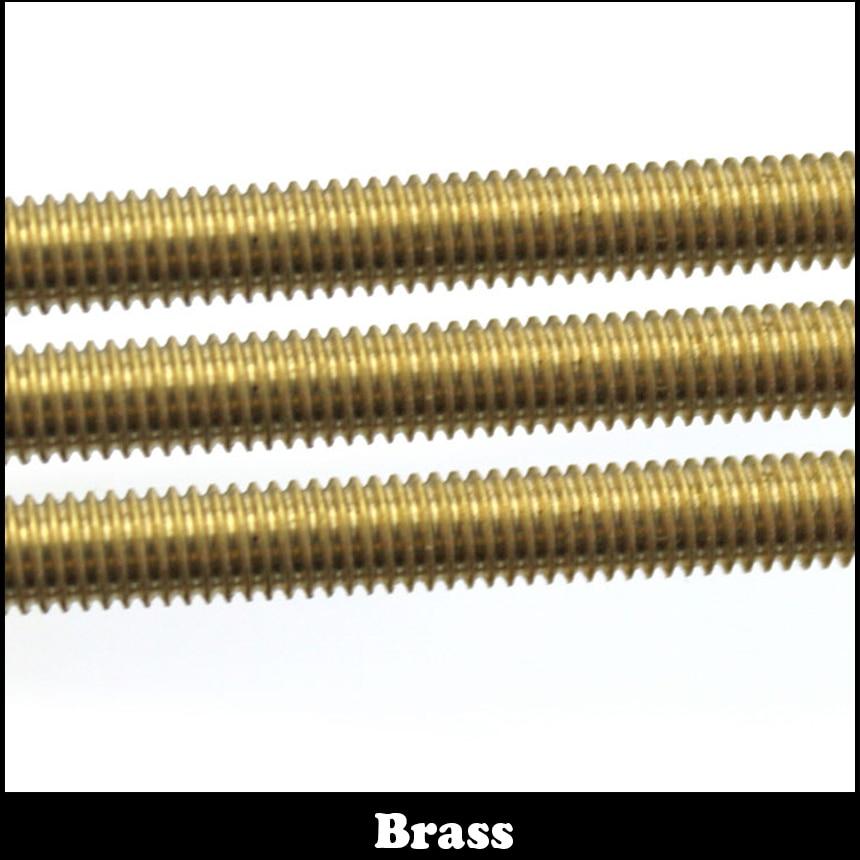 M12 M14 M16 M12*500 M12x500 M14*500 M14x500 M16*500 M16x500 500mm Long Brass Metric Bolt Full Thread Shaft Rod Bar Stud 12mm m12 500mm brass threaded bar screw rod shaft all sizes in stock