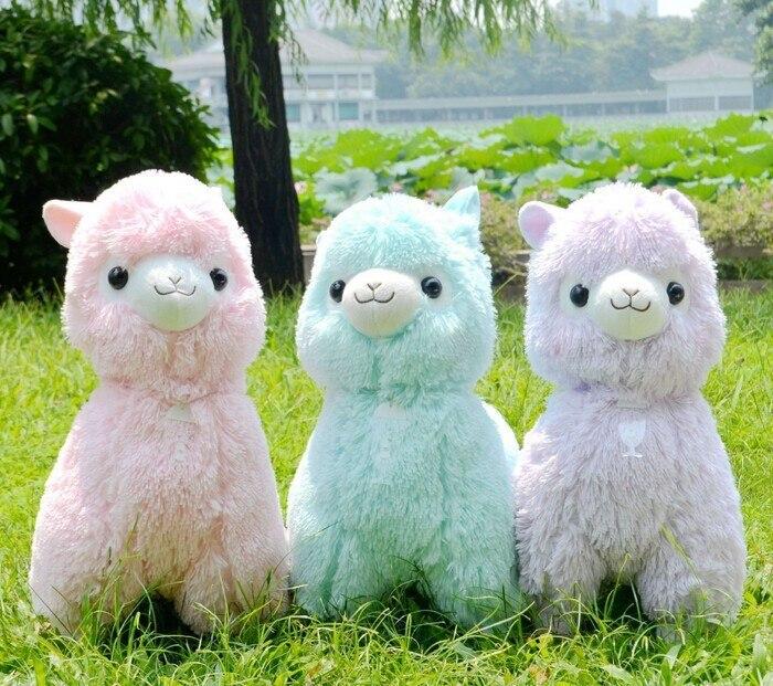 japanese alpacasso soft toys doll giant stuffed animals toy 5 colors kawaii alpaca plush kids christmas
