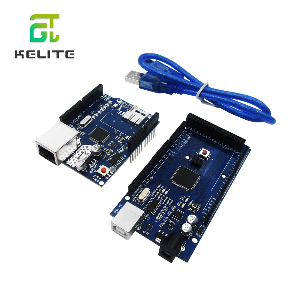 HAILANGNIAO UNO Ethernet W5100 Network Expansion Board SD Card Shield  With Mega 2560 R3 Mega2560 REV3