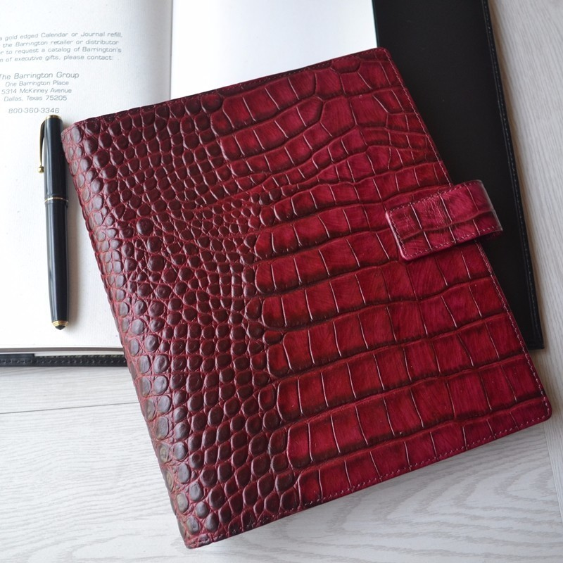 Genuine Leather Binder Notebook A5 Handmade Personal Agenda Organizer Cowhide Diary Journal Sketchbook Planner With Money Pocket