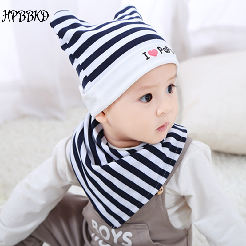 Mother & Kids Rational Hpbbkd Cotton Baby Hat Set Kids Infant Toddler Cap Newborn Hat Baby Scarf Collar Boys Beanie Kids For Girls Gh437 Hats & Caps