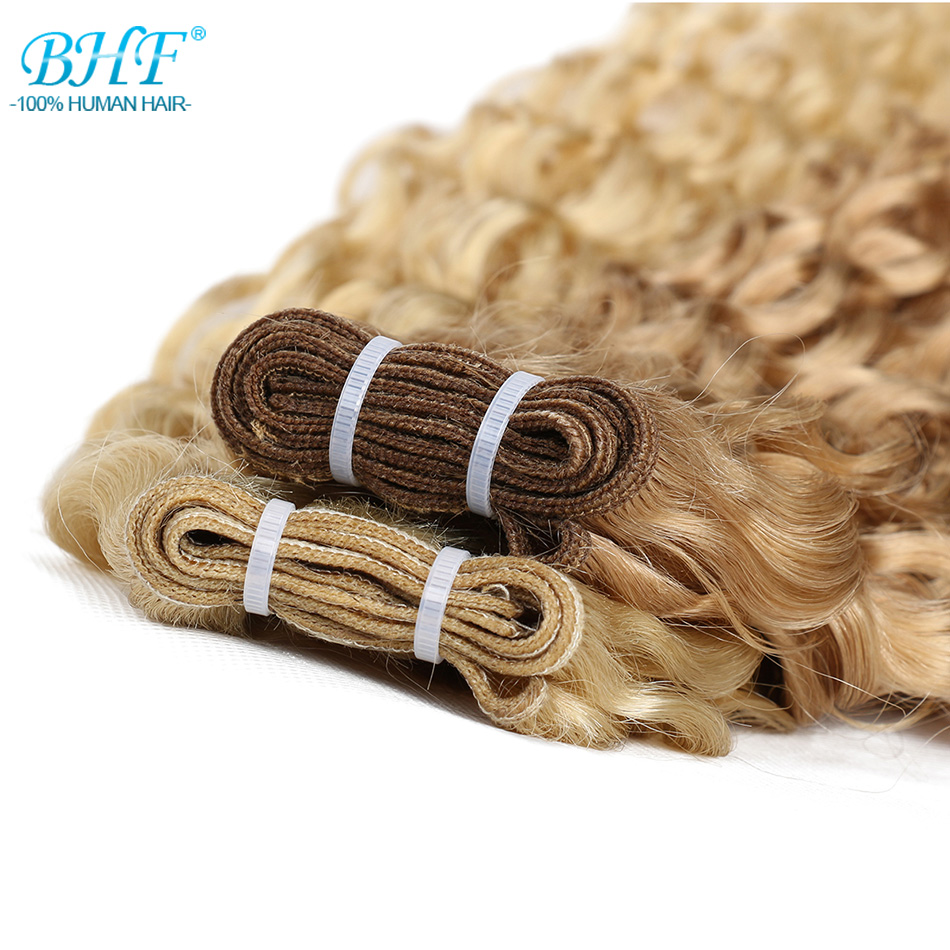 """BHF P27/613# Water Wave  Ombre Blonde Highlight Piano  Hair Weft 100g 18""""20""""22""""24""""Length 3"""