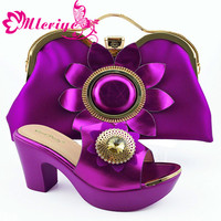 High Quality Italian Design Slipper Italian Shoes and Matching Bags African Shoes and Matching Bags Party Shoes and Bag Sets