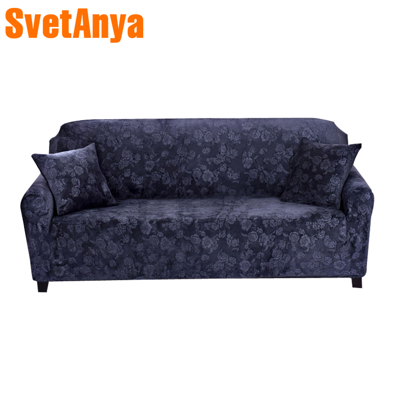 Svetanya Embossing Elastic Sofa Covers Armchair Loveseat Couch warm Slipcovers Set Sectional L Sofa case