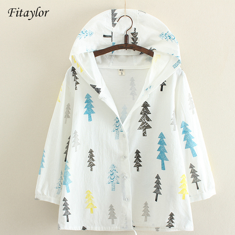 Fitaylor Spring Women   Trench   Coat Printed Hooded Tops Long Sleeve Stuedent Basic Outwear Casual Windbreaker