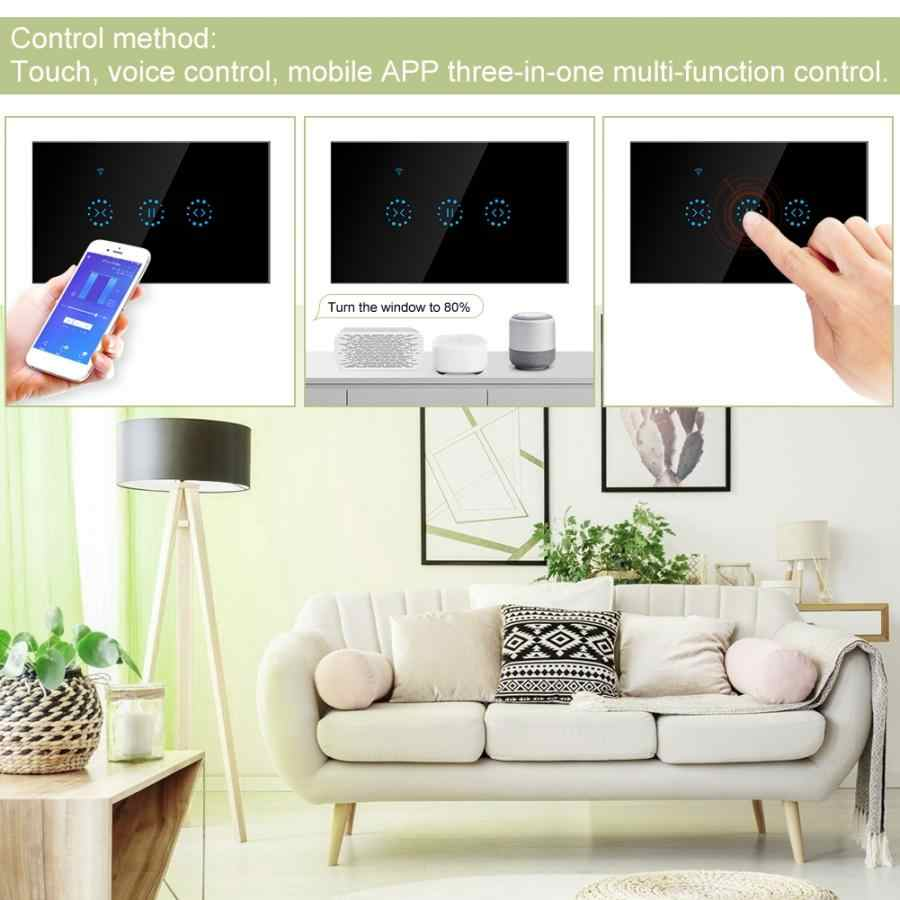 1/2/3 Gang Smart WIFI Wireless Touch Switch Panel US Curtain Switch Remote APP Control