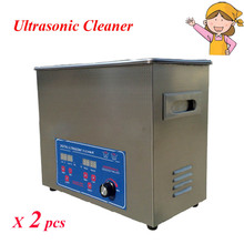 2pcs/lot 220V Upright Ultrasonic Cleaners 6L Capacity Home Appliance Cleaning Machine with English Manual PS-30AL