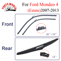 Combo Silicone Rubber Front And Rear Wiper Blades For Ford Mondeo 4(Estate) 2007-2013,Windscreen Wipers Car Accessories