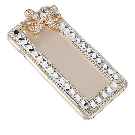Bling-metal-Bowknot-Crystal-Rhinestone-Diamond-Phone-Case-Cover-for-iphone-X-4S-5S-5C-6