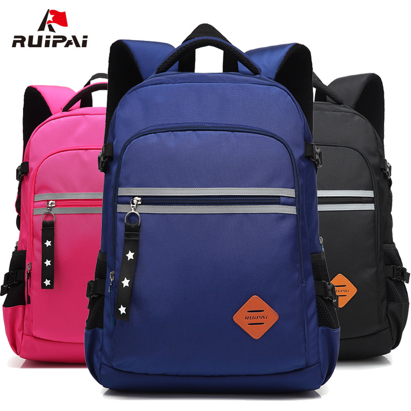Ruipai school bags for children contrast color three colors breathable school backpack large capacity schoolbag students