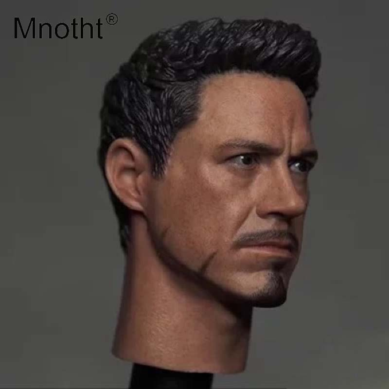 Mnotht 1:6 Male Soldier Movies Head Sculpt Model Resin Western Animiation Toni Head Carving Toys Action Figures Accessories m3 1 6 soldier clothes death game bruce lee suit head carving fit 12collectible doll toys accessories
