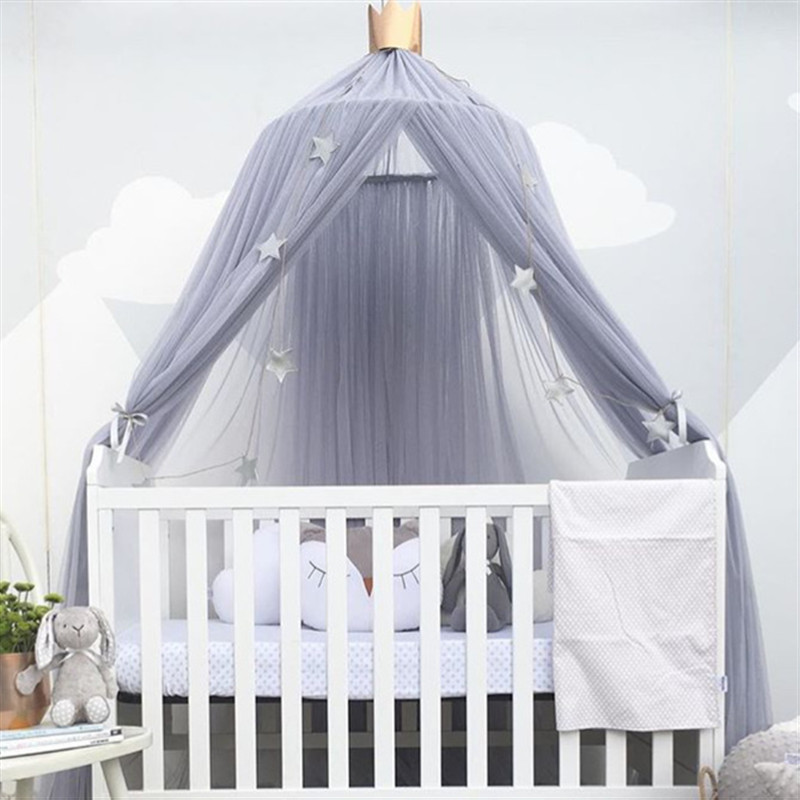 Aminiture Kids Baby Princess Mosquito Net Bed Canopy with Round Lace Dome Children Playing Reading canopy Tent Netting Curtains