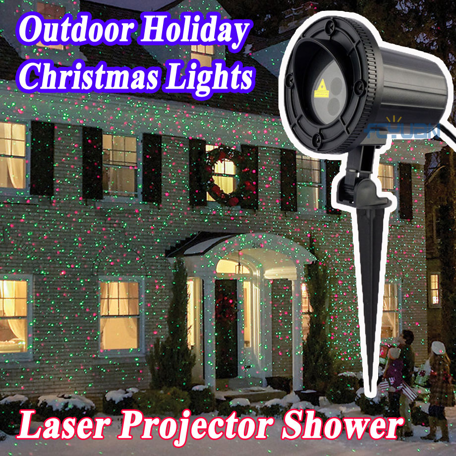 Christmas Lights Outdoor Laser Projector Red Green Mix Fairy Light Holiday Night Led Lights Decoration for Home Waterproof