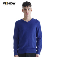 VIISHOW Men's Pullover Sweaters V Neck Sweater Men Long Sleeve Mens Sweaters Wool Casual Brand knitted Sweater Men Pull Homme