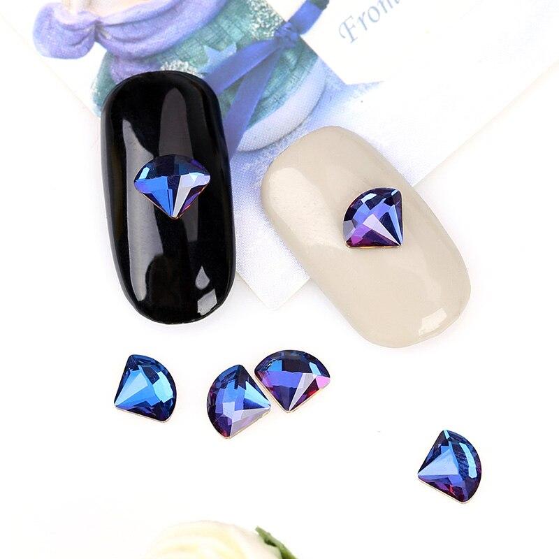 6 * 7mm 3D Nail Art Decoraciones 10 Unids / pack Glitter Rhinestones - Arte de uñas - foto 4