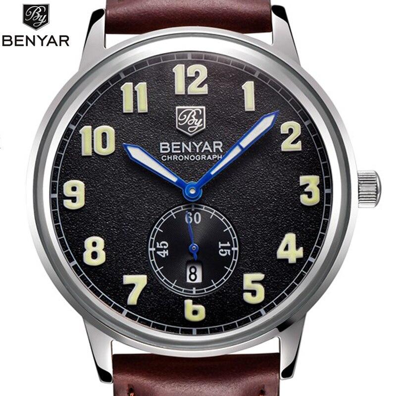 ФОТО Watches Men Gold Stainless Steel Case Leather Strap Matte Surface Quartz Wrist Watch Clock Male Relogio Masculino Ceasuri Box 47