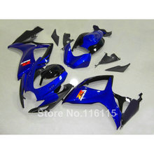 100% подходит для Suzuki gsx-r 600 750 комплект обтекателей K6 K7 2006 2007 цвет синий, черный; Большие размеры 34–43 GSX-R600 GSX-R750 06 07 высокого качества обтекатели комплект ng6