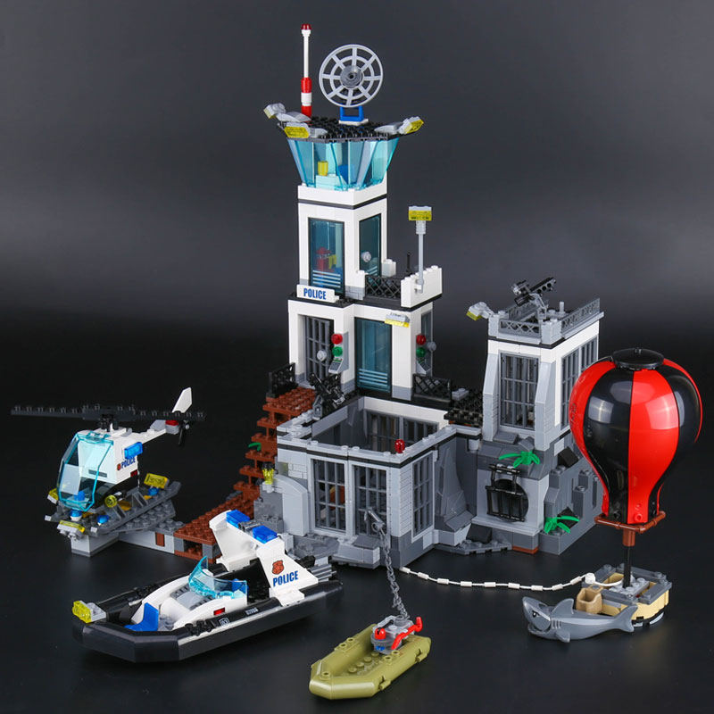 Lepin 02006 Genuine 815Pcs City Series The Prison Island Set Building Blocks Bricks legoINGlys Funny 60130 christams gifts цена