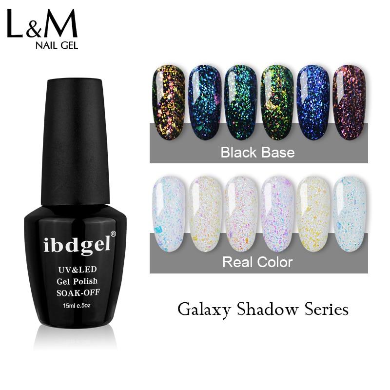 2017 New Style Any 3 Pcs Set Galaxy Shadow Gel Nail Polish Shinning Glitter Bright Gelpolish 15ml Summer UV & LED Color