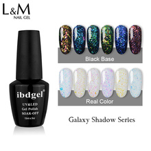 New Style 3 Pcs Set Galaxy Shadow Gel Nail Polish Shinning Glitter Bright Gelpolish 15ml Summer UV & LED Nail Color Gel Vernish