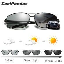 מקורי מותג Photochromic מקוטב גברים משקפי שמש לנהגים נשים זכר בטיחות יום ראיית לילה משקפיים נהיגה UV400