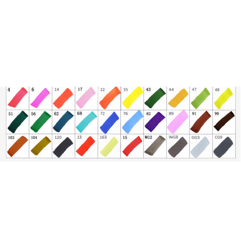 5PACKS Hot Touchfive 30Colors Art Marker Set Oily Alcoholic Dual Headed Artist Sketch Copic Markers Pen, White Student Set leather notebook diary loose leaf notebook vintage travel notepad leather notepad customization office school supplies n112