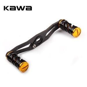 Image 2 - KAWA דיג סליל ידית סיבי פחמן עבור Baitcasting 105mm אורך חור גודל 8x5mm עובי 3mm חליפה עבור אבו ו Daiwa סליל
