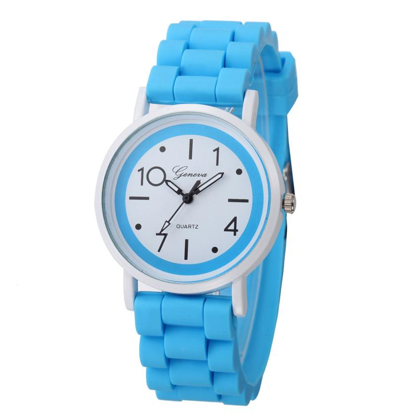 Candy color silicone band watch Geneva 2017 new brand watch women luxury watch Roman Numerals Jelly Gel Quartz Analog Watch 2017 new fashion women geneva silicone rubber jelly gel quartz analog sports wrist watch 0vjs