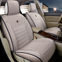 Flax universal car seat covers full surrounded seat for Mazda 3 6 CX 5 CX7 323 626 M2 M3 M6 Axela seat cushion car styling