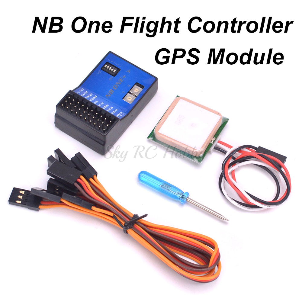 NB One 32 Bit Flight Controller Built-in 6-Axis Gyro With Altitude Hold Mode + GPS Module For FPV RC Fixed Wing Fixed-wing