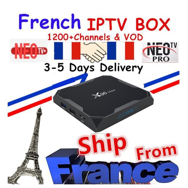 Najlepsze francuski IPTV Box X96 MAX Android TV Box z 1200 + 1 rok IPTV europa francja arabski afryce maroko piłka nożna inteligentny IPTV Box