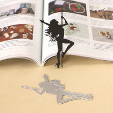 DUOFEN METAL CUTTING DIES 130271 pole dancing girl embossing stencil DIY Scrapbook Paper Album 2018 new