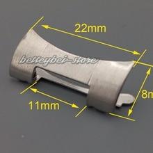 Rolamy, 22 мм, новинка, нержавеющая сталь, серебряный ремешок для часов, браслеты, весь матовый изогнутый конец, части, 2 шт., для ремешка