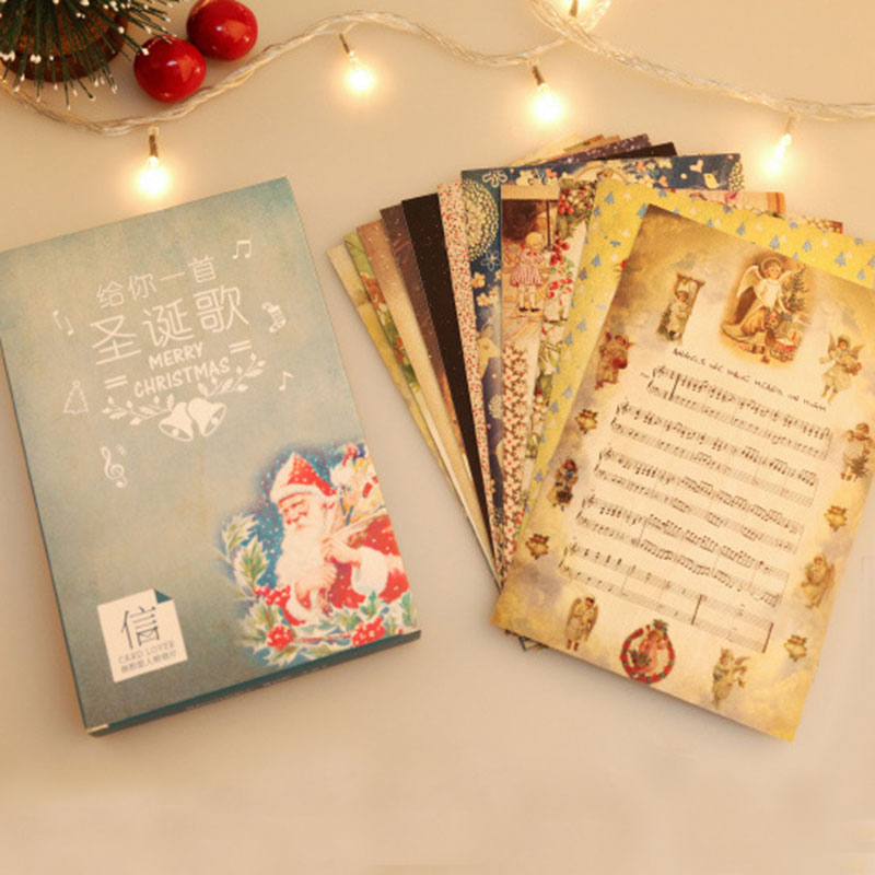 30pcslot give you a christmas song score postcard merry christmas 30pcslot give you a christmas song score postcard merry christmas greeting card christmas card message card new year gift cards in cards invitations from m4hsunfo
