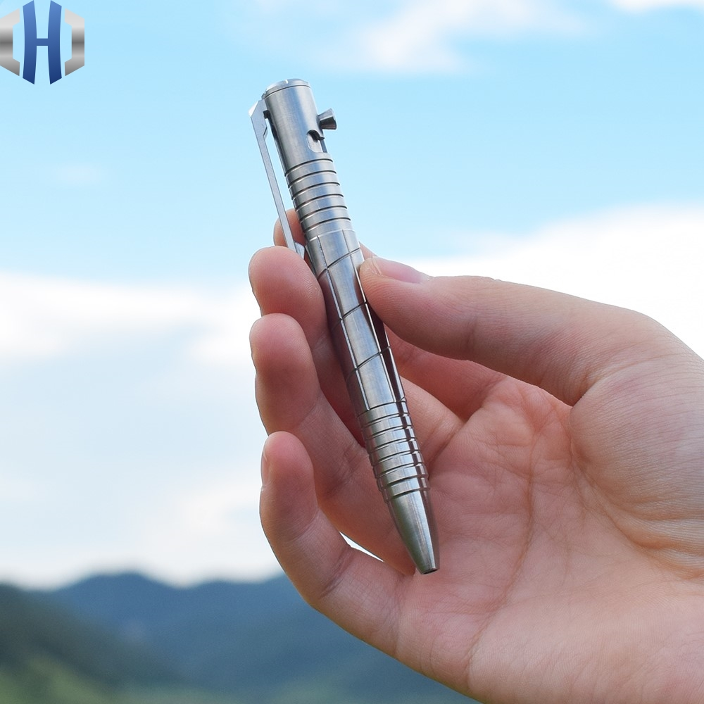 Titanium Alloy Mini Gun Plug Pen Business Gift Pen Student Pen Self defense Waterproof EDC Tactical Pen|Outdoor Tools| |  - title=