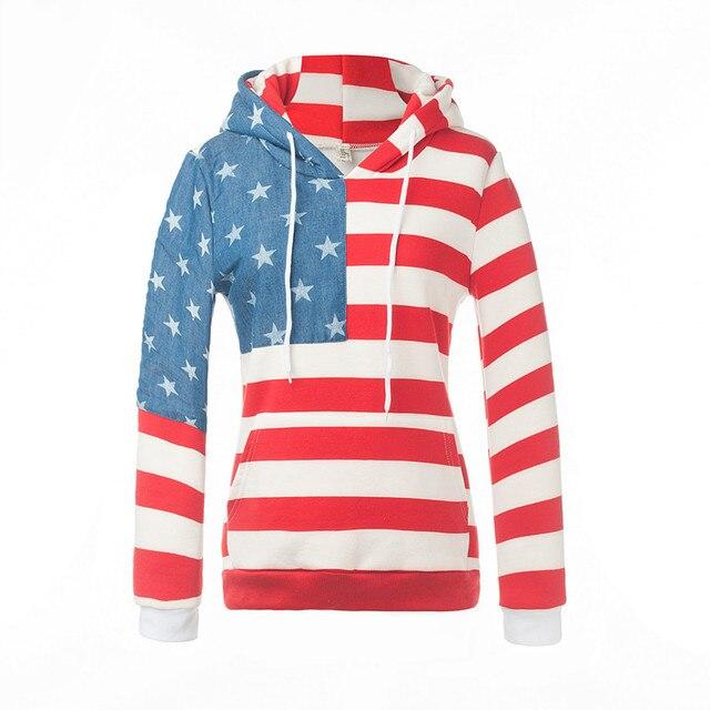 Sweatshirt Apparel In Damen Frauen Us22 Krawatte American Print 68hohe Beiläufige Qualität Hoodie Kragen Hoodies Striped OkiPXZu