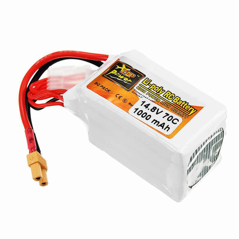 Перезаряжаемые Lipo Батарея ZOP Мощность 14,8 V 1000 мА/ч, 70C 4S Lipo Батарея XT30 разъем для Радиоуправляемый гоночный Дрон с видом от первого лица аксессуары Запчасти