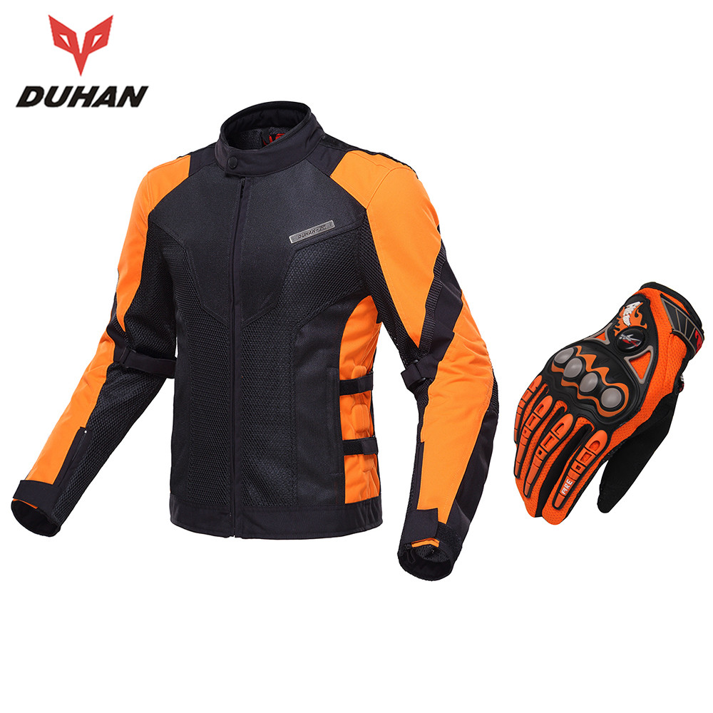 DUHAN Motorcycle Jacket Spring Summer Moto Jacket Motocross Riding Clothing Breathable Motorcycle Jacket Men Protective Gear riding tribe men s motorcycle bikes slimming protective armor jackets motocross breathable cycling suits clothes with 6 pads