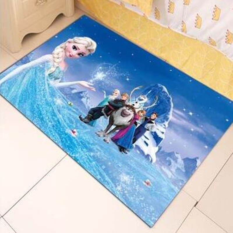 Childrens Room Carpet Bedroom Princess Cute European-style Small Carpet Bed Can Be Machine Wash Cartoon Girl Mats