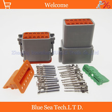 100 sets Deutsch DT06 12S and DT04 12P 12Pin Engine Gearbox waterproof electrical connector for car