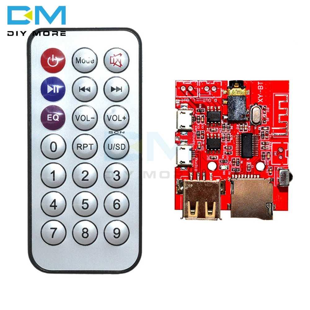 1 комплект Bluetooth 4,1 MP3 WAV декодирующая плата автомобильный динамик аудио приемник 3 Вт усилитель модуль Поддержка USB TF U-DISK ИК пульт дистанционного управления