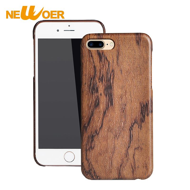 Цена за Для Apple iPhone 7 Plus 7 s plus углерода Волокна Корпус чехол телефона орехового дерева жесткий анти- Knock Корпуса newoer