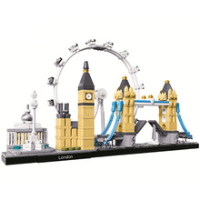 2019 Architecture City Series (468 pieces)  London Skyline Collection Building Block Model  Sets Brick Classic Kids Toys Gifts world famous history cultural architecture building block moscow kremlin russia model brick educational toys collection for gift